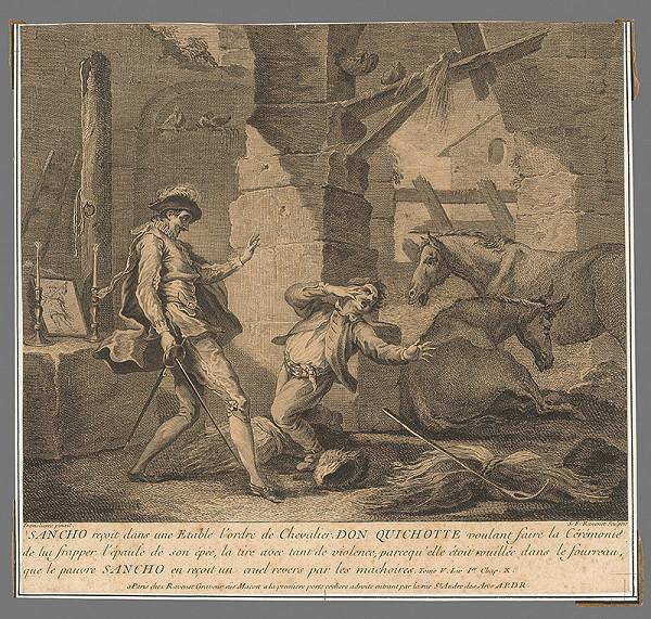 Simon Francois Ravenet, Pierre Charles Trémolières – Don Quijot pasuje Sancha na rytiera