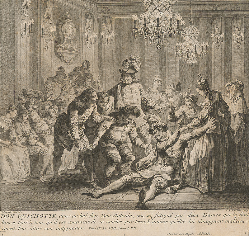 Charles-Nicolas Cochin ml., Simon Francois Ravenet: Don Quijote na plese u Dona Antonia, 1750–1770, Slovenská národná galéria