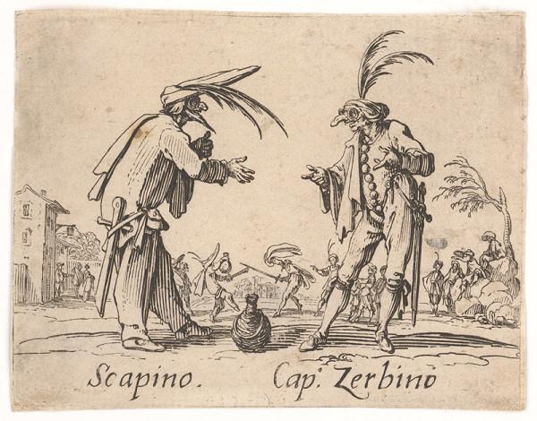 Jacques Callot - Scapino a Cap.Zerbino