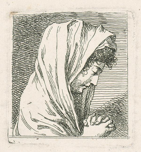 Josef Bergler ml. - Štúdia ženskej hlavy z profilu