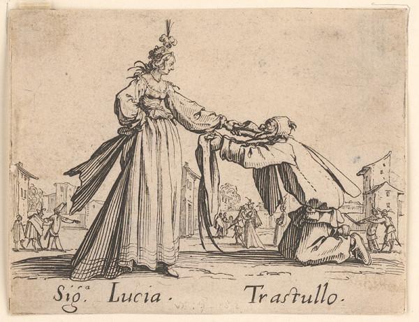 Jacques Callot - Signora Lucia a Trastullo
