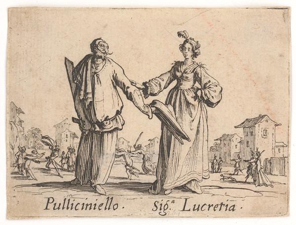 Jacques Callot - Pullicinielo a Signora Lucretia
