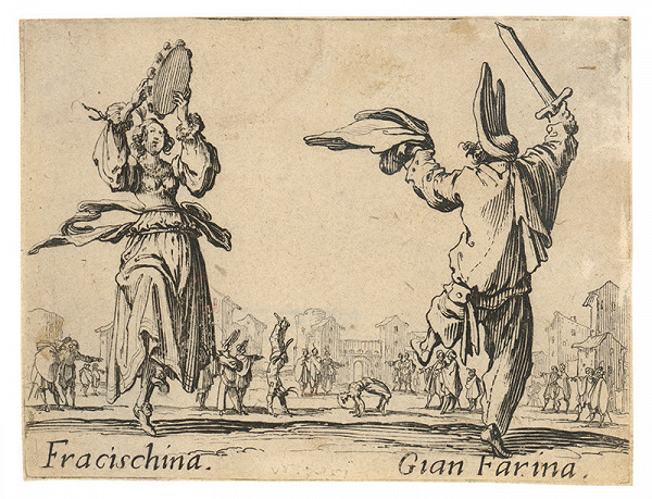 Jacques Callot - Francischina a Gian Farina