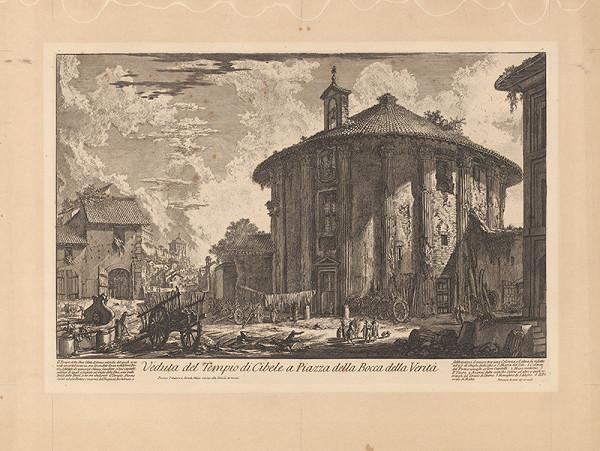 Giovanni Battista Piranesi - Chrám bohyne Cibele zvaný aj Rotunda (dnes Herkula víťaza)