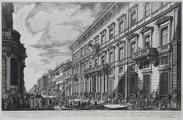 Francesco Piranesi, Giovanni Battista Piranesi – Pohľad na Palazzo Mancini na Via del Corso v Ríme