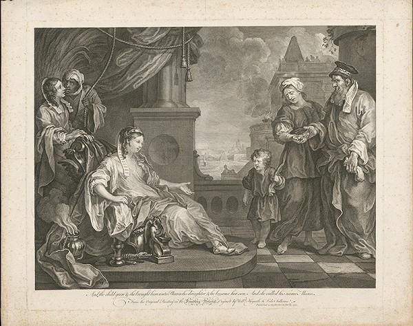 Luke Sullivan, William Hogarth – Mojžiš pred faraónovou dcérou