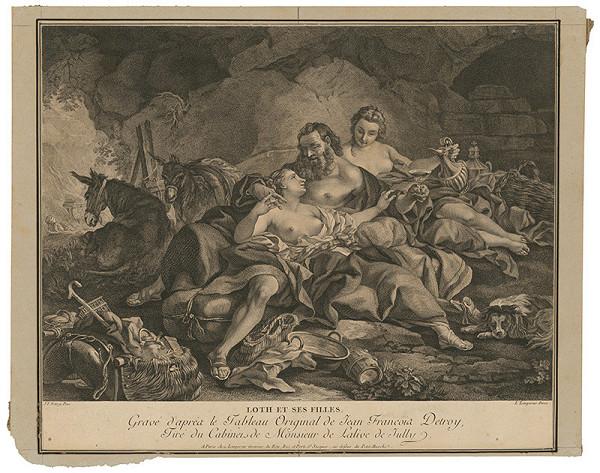 Louis Simon Lempereur, Francois Claudius Compte-Calix - Loth a jeho dcéry