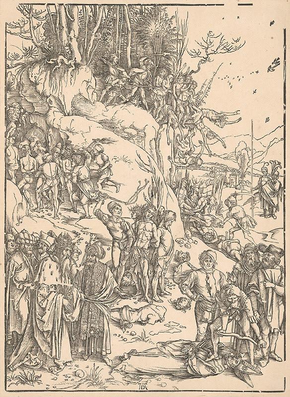 Albrecht Dürer – Umučenie 10 000 kresťanov z Nikodémie