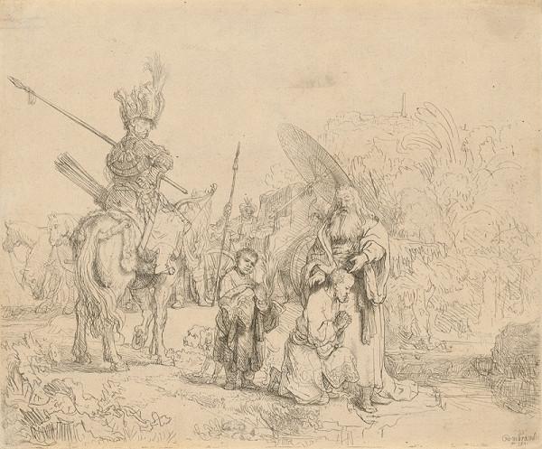 Rembrandt van Rijn – Krst eunucha (Sk 8, 26-39)