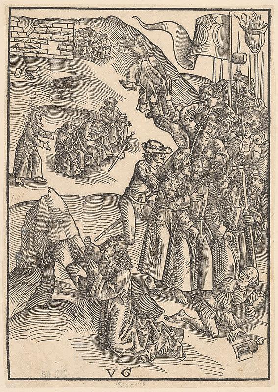 Urs Graf – Kristus na hore Olivovej