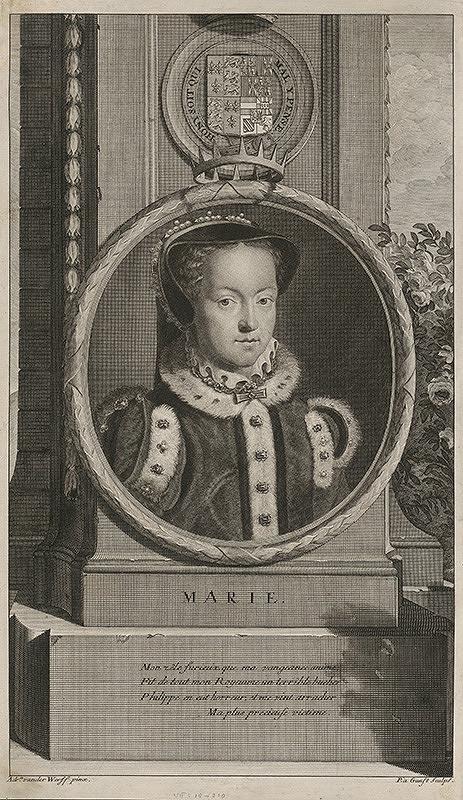 Pieter Stevens van Gunst, Adriaen van der Werff - Podobizeň Márie -kráľovny