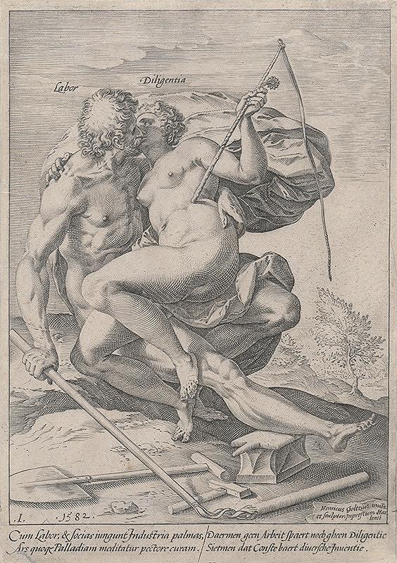 Hendrick Goltzius - Práca a usilovnosť