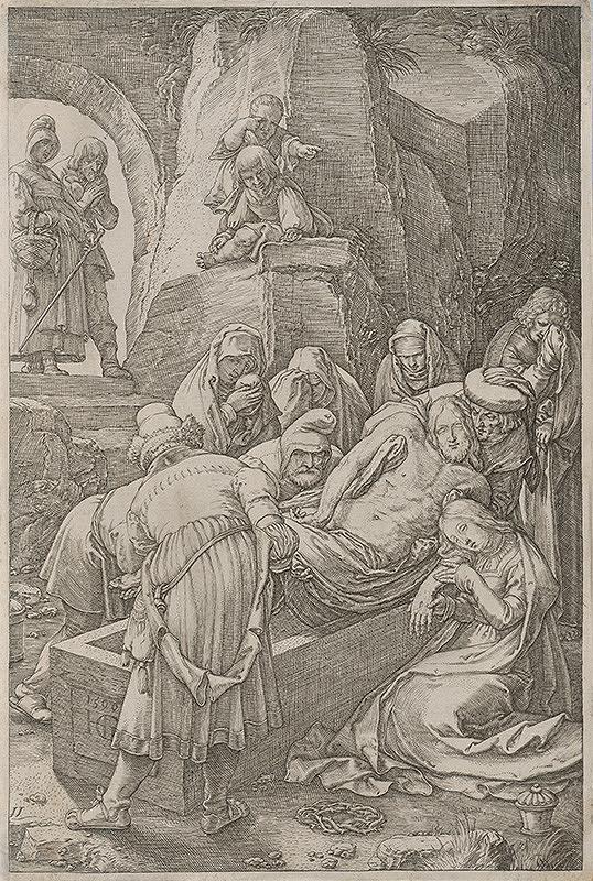 Hendrick Goltzius - Ukladanie do hrobu (11)
