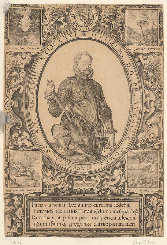 Hendrick Goltzius - Podobizeň Guilelma Comesa Nassaviae