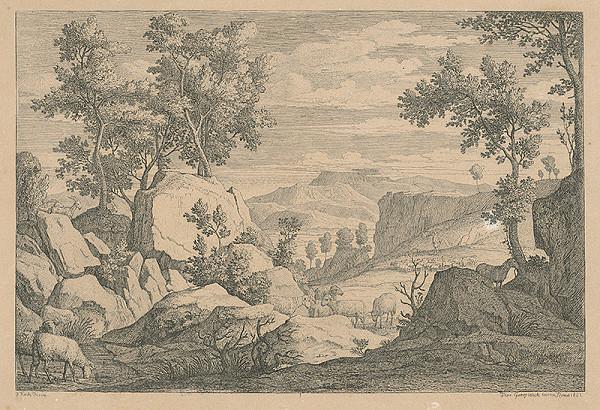 Florian Grospietsch, Joseph Anton Koch - Talianska krajina
