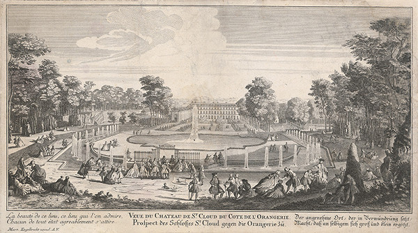Martin Engelbrecht – Pohľad na palác st.Cloud