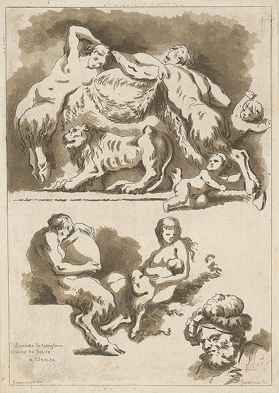 Jean-Honoré Fragonard, Jean Claude Richard de Saint-Non – Štúdia podľa malieb Benedetta di Castiglione v paláci Smitz v Benátkach