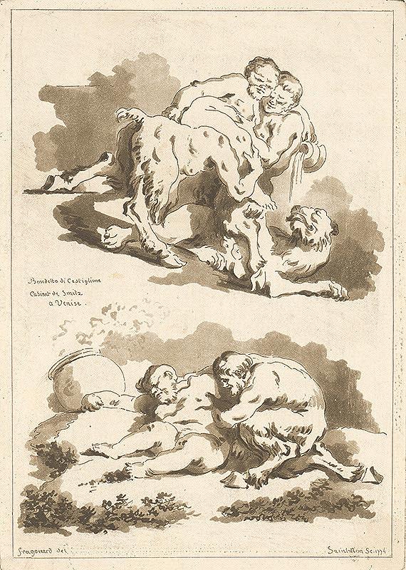 Jean-Honoré Fragonard, Jean Claude Richard de Saint-Non – Štúdia podľa malieb Benedetta di Castiglione v kabinete De Smitz v Benátkach