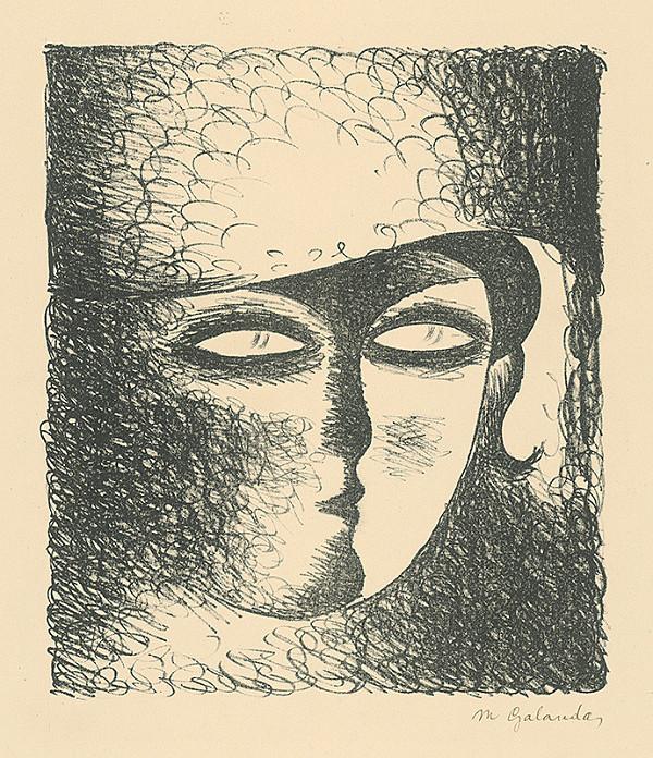 Mikuláš Galanda - Hlava mladej ženy v klobúku