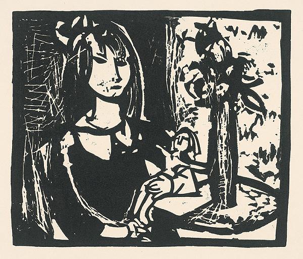 Vincent Hložník – Dievča s bábikou