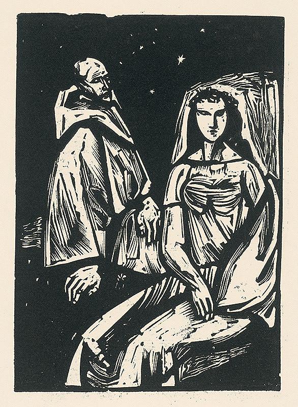 Vincent Hložník – Žena a pútnik