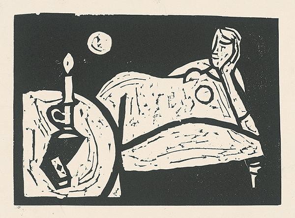 Vincent Hložník – Žena so sviečkou