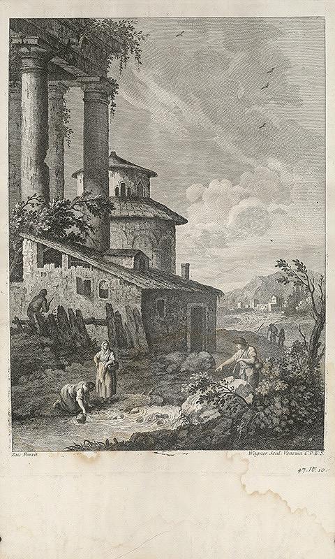 Joseph Wagner, Giuseppe Zais – Krajina s antickou zrúcaninou a potokom