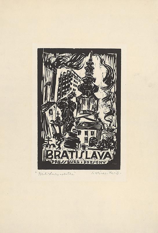 Imrich Weiner-Kráľ - Obálka k cyklu Bratislava
