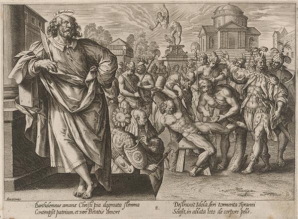 Hendrick Goltzius, Maarten de Vos st. - Svätý Bartolomej