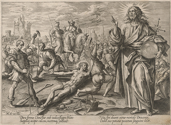 Hendrick Goltzius, Maarten de Vos st. - Kristus