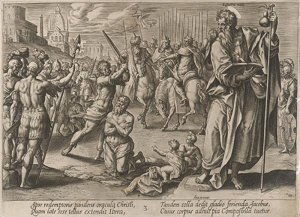 Hendrick Goltzius, Maarten de Vos st. - Svätý Jakub
