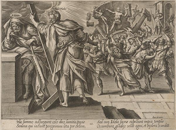 Hendrick Goltzius, Maarten de Vos st. – Svätý Juda Tadeáš