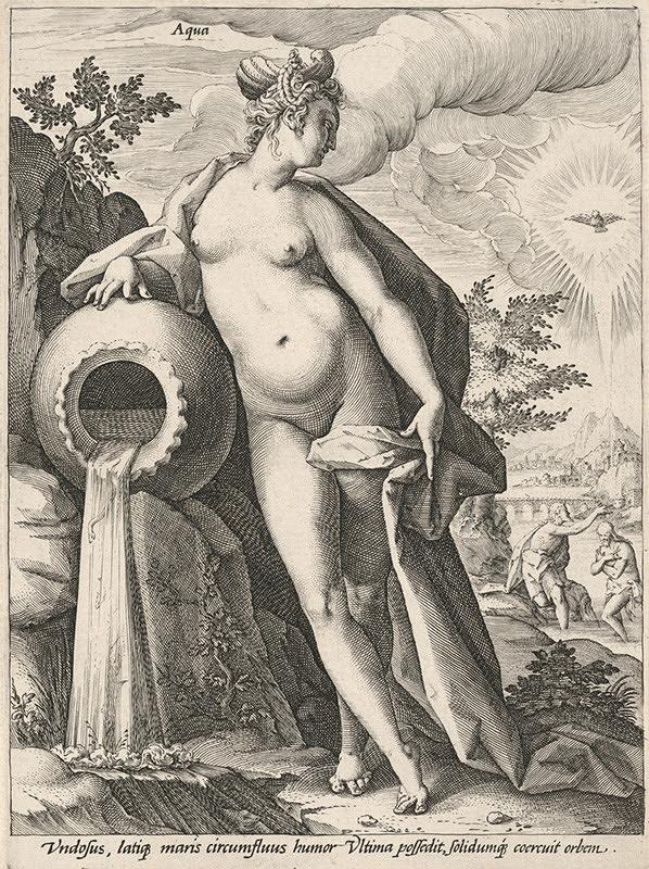 Hendrick Goltzius, Neznámy grafik - Voda