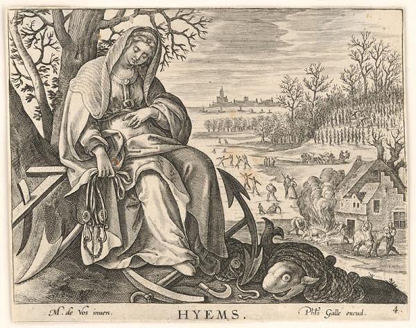 Neznámy rytec, Maarten de Vos st. – Zima (4)