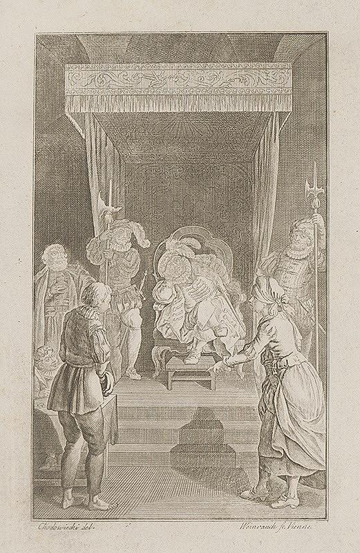 Jacob von Sandrart, Johann Caspar Weinrauch - Pred kráľom
