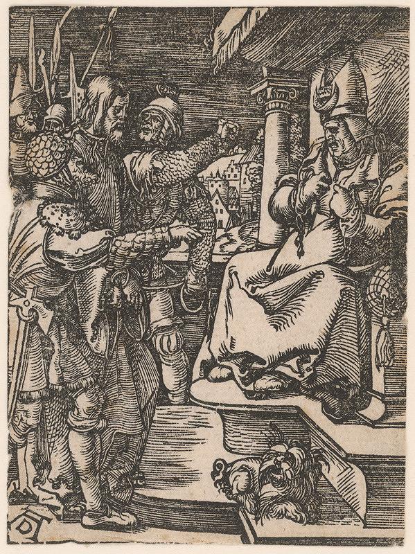 Albrecht Dürer – Kristus pred Kaifášom