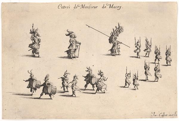 Jacques Callot - Vstup pána De Macey