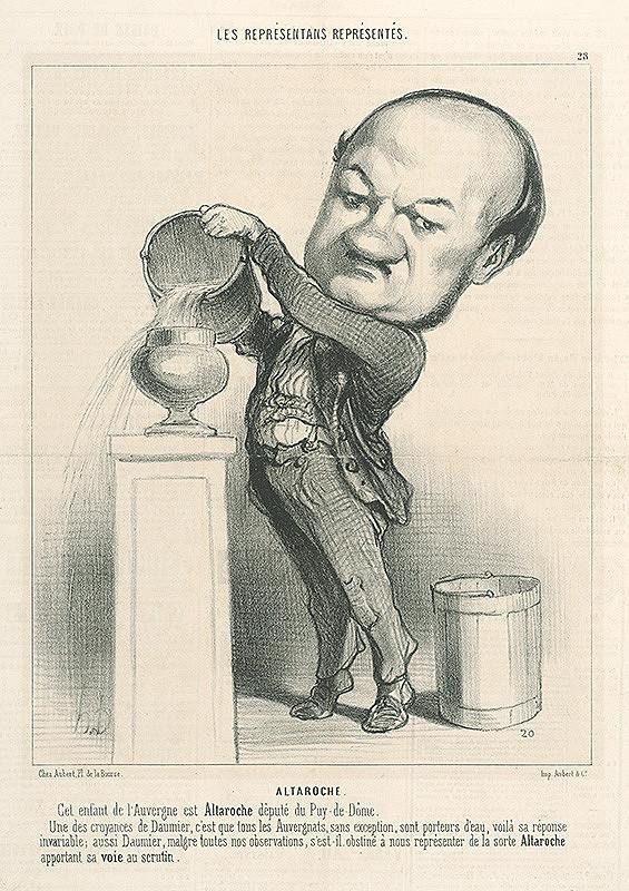 Honoré Daumier – Altaroche