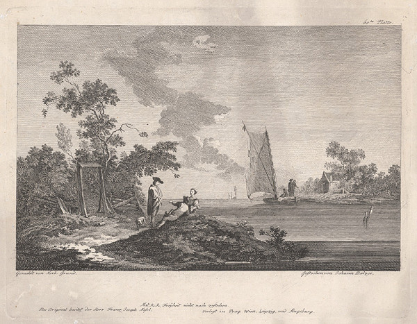 Jan Jiří Balzer, Norbert Joseph Carl Grund - Na brehu jazera