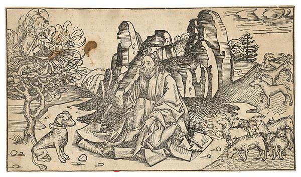 Michael Wolgemut, Wilhelm Pleydenwurf – Boh sa zjavuje Mojžišovi na ohnivom kri