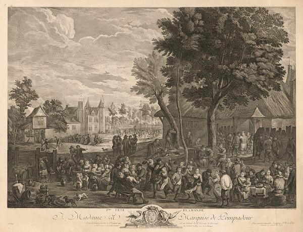 Jacques Philippe Le Bas, David Teniers ml. – Flámska slávnosť (I)