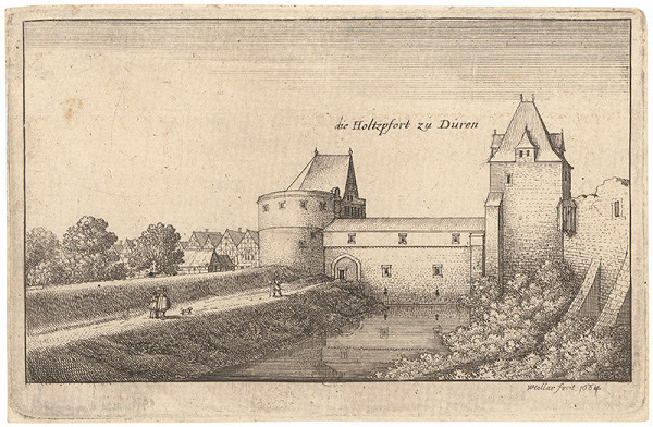 Václav Hollar – Časť opevnenia v Dürene