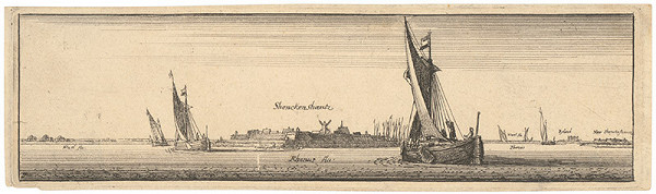 Václav Hollar – Pohľad na hrádze – opevnenie Shenken Shantz