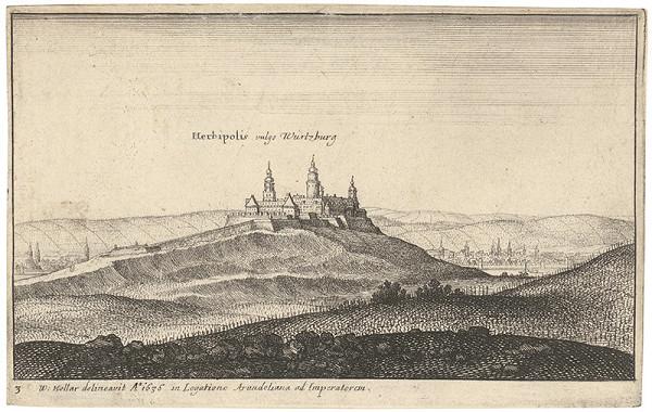 Václav Hollar – Pohľad na Würzburg