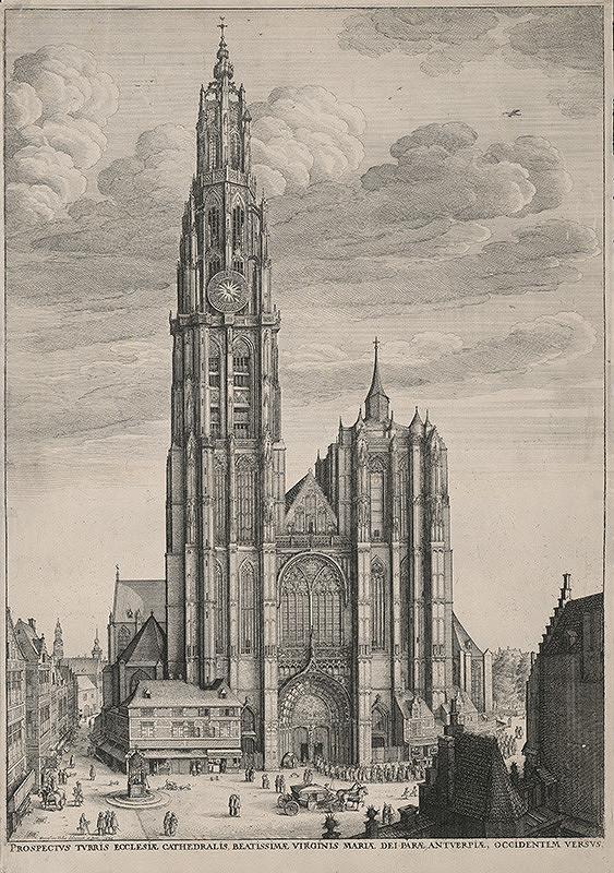 Václav Hollar – Západná fasáda Katedrály v Antverpách