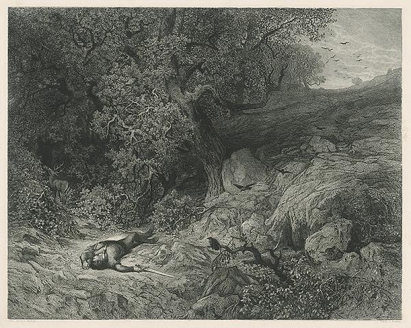 Julius Edvard Mařák – Mŕtvy muž v Lese