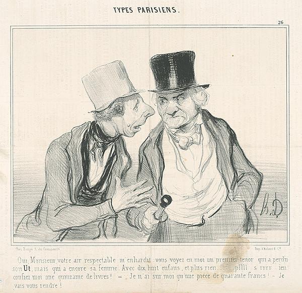 Honoré Daumier – Rozhovor mužov