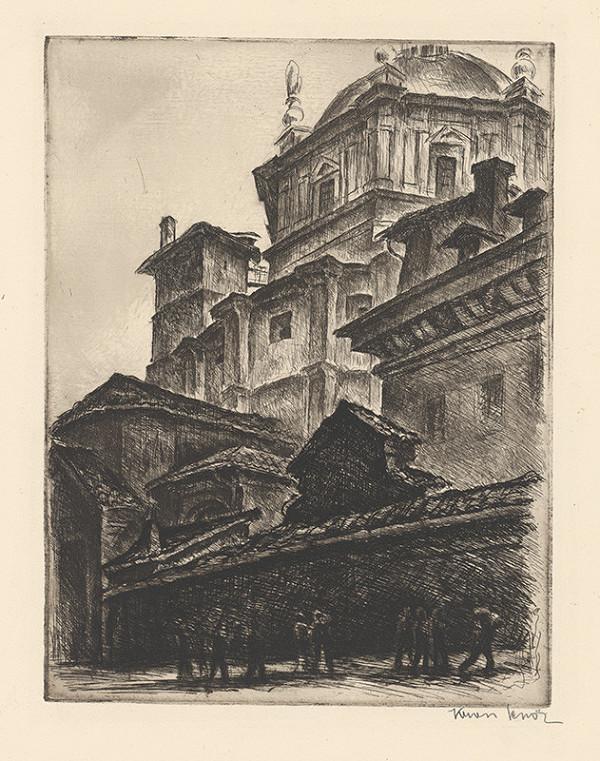 Eugen Krón - Chrámová kupola z ulice