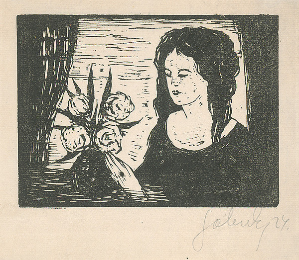 Mikuláš Galanda - Žena s kyticou