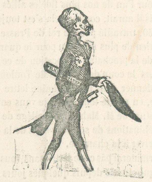 Francúzsky karikaturista z 19. storočia - Pán